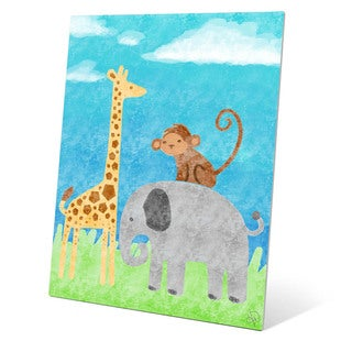 'Wild Animals' Child's Graphic Wall Art on Metal