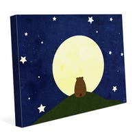 'Star-gazing Bear' Graphic Canvas Wall Art Print