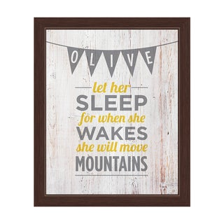 Art and Photo Decor 'Let Her Sleep' Espresso Frame Graphic Wall Art Print