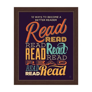 '10 Ways to Become a Better Reader' Espresso Frame Graphic Wall Art