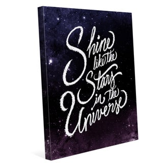 'Shine Like the Stars in the Universe' Graphic Canvas Wall Art