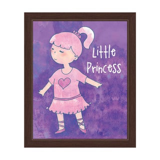 'Little Princess Ballerina' Espresso Frame Graphic Wall Art