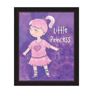 'Little Princess' Black-framed Ballerina Graphic Wall Art