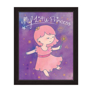 'My Little Princess Fairy' Black-framed Canvas Art Print