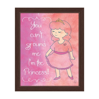 'You Can't Ground the Princess' Graphic Espresso Frame Wall Art