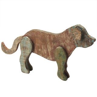 Butler Shadow Reclaimed Wood Dog Figurine