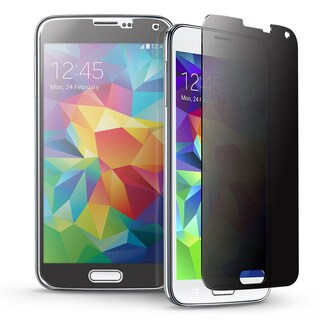 INSTEN Privacy Anti-Spy Tempered Glass LCD Screen Protector Film Cover For Samsung Galaxy S5