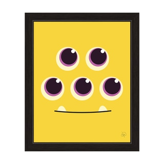 'Yellow Monster' Graphic Wall Art With Black Frame