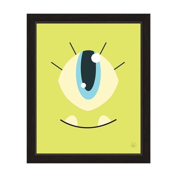 Art and Photo Decor \'Light Green Monster\' Black-framed Graphic Wall ...