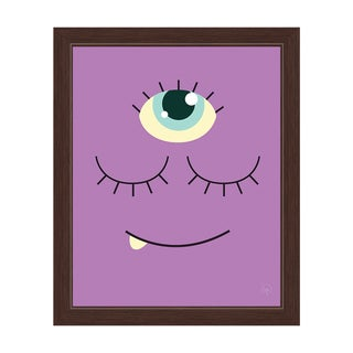 'Purple Monster' Graphic Wall Art Print