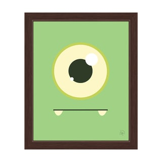 'Green Monster' Graphic Wall Art With Espresso Frame