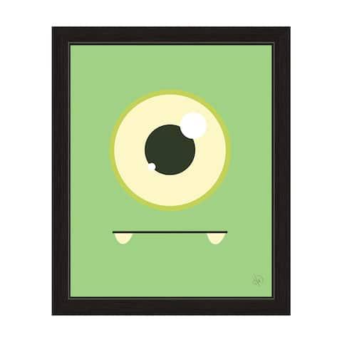 'Green Monster' Graphic Black Frame Wall Art Print