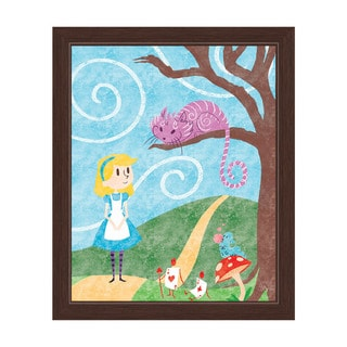 'Wonderland' Espresso-framed Graphic Wall Art
