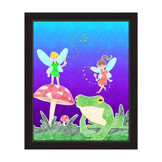 Fairies Graphic Wall Art with Black Frame