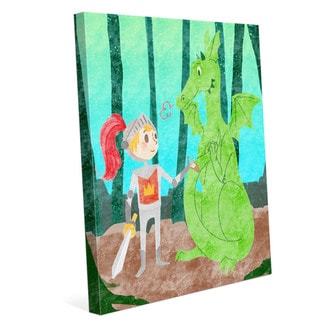 Child's 'Dragon Fantasy' Graphic Canvas Wall Art