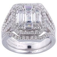 Engagment Style with Cubic Zirconia Sterling Silver Ring