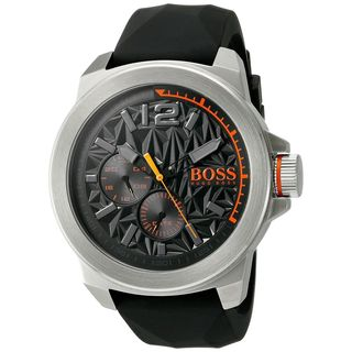 Hugo boss Men's 1513346 'New York' Chronograph Black Silicone Watch