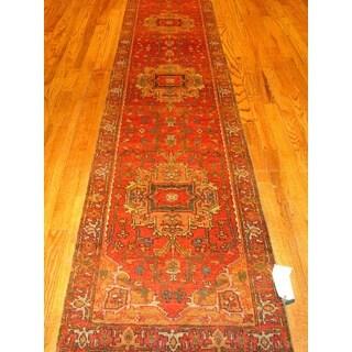 Pasargad Serapi Rust Lamb's Wool Hand-knotted Runner (2'8 x 20')