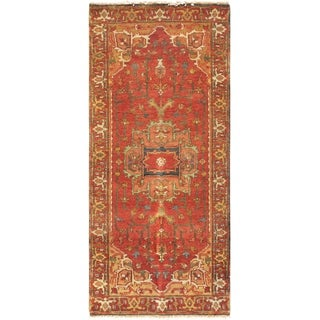 Pasargad Serapi Rust Hand-knotted Lamb's Wool Runner (2'6 x 16')