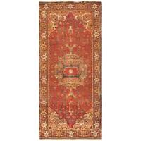 Pasargad Serapi Rust Hand-knotted Lamb's Wool Runner (2'6 x 16') - 2'6 x 16'