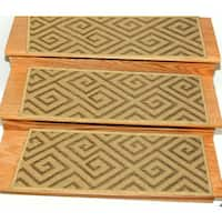 Ottomanson Jardin Collection Jute Back 9-inch x 26-inch Indoor/Outdoor Carpet Stair Treads (Case of 14)