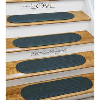 Madeira Braided Reversible Stair Treads by Rhody Rug (Set of 4)