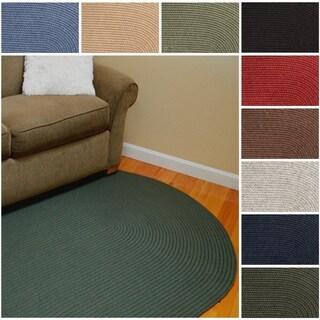 Woolux Wool Oval Braided Rug by Rhody Rug (7' x 9') (Option: Sage)