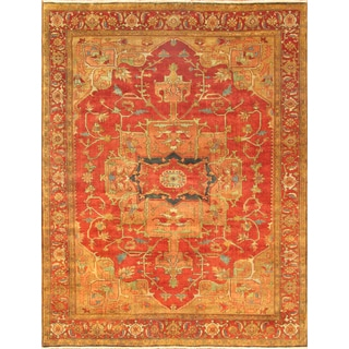 Pasargad Serapi Rust Wool Hand-knotted Area Rug (10' x 10')