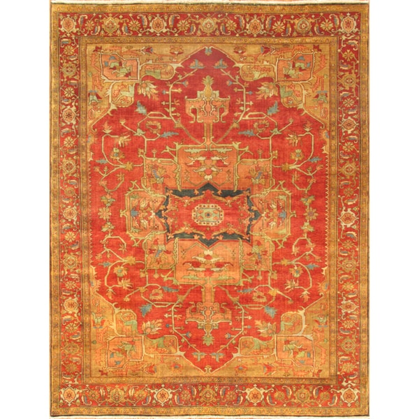 Pasargad Serapi Rust Wool Hand-knotted Area Rug (10' x 10') - 10' Square