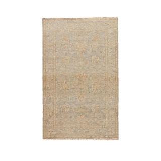 Classic Oriental Pattern Neutral/Gray Wool Area Rug ( 10x14)