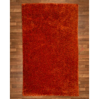 Natural Area Rugs Hand Woven Maldives Mandarin Shag Rug (8' x 10') with Bonus Rug Pad