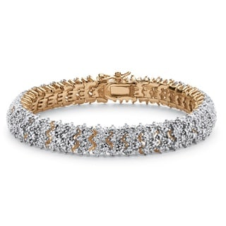 Yellow Goldplated 1 Tcw Diamond Snake-Link Bracelet