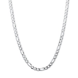PalmBeach Men's Figaro Link Chain Necklace in Sterling Silver 20""""