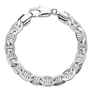 "Men's Mariner-Link 8.5 mm Classic Bracelet Silvertone 8"""""
