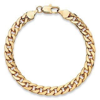 Men's Classic 6.5 mm Curb-Link Bracelet Gold Ion-Plated 8"""