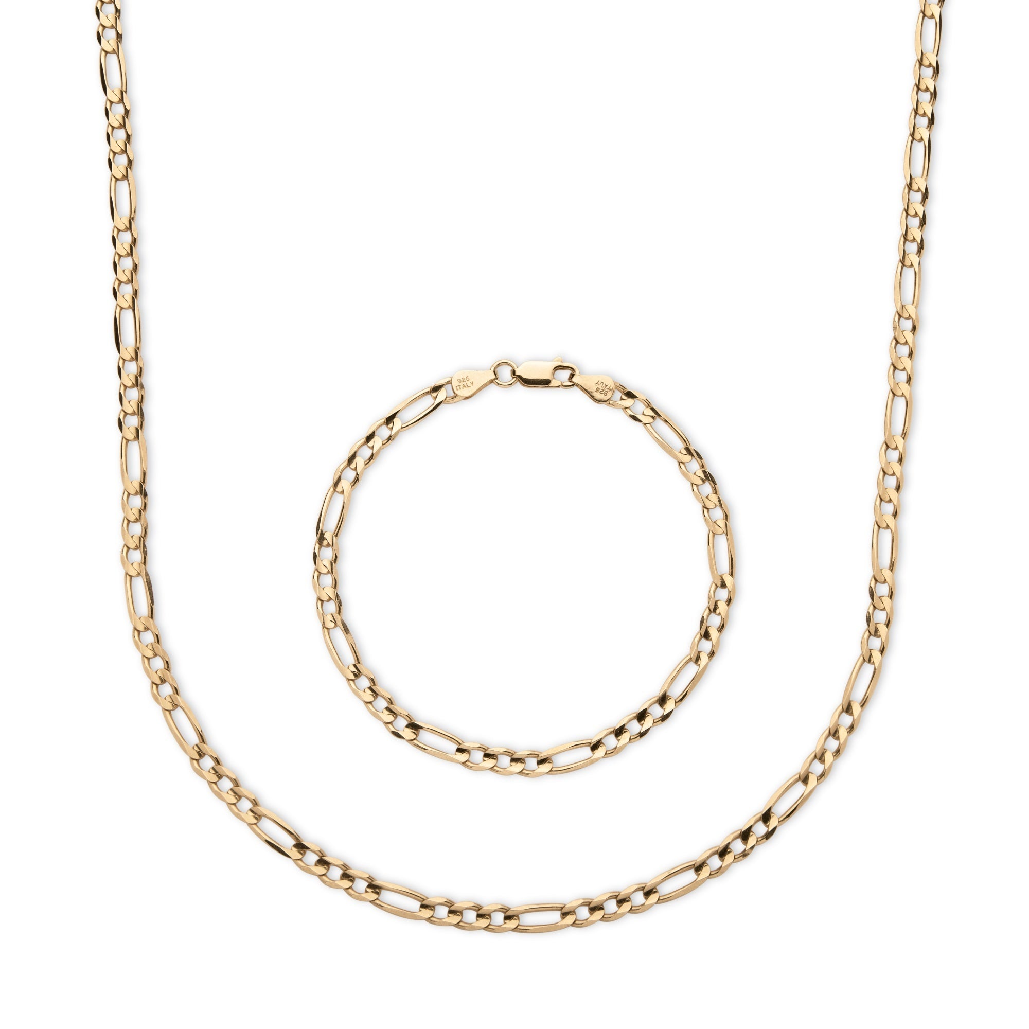 Palm Beach Men's Figaro-Link Two-Piece Chain and Bracelet...
