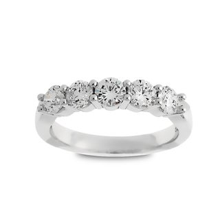 Azaro Jewelry 14k White Gold 1ct TDW Round Diamond Wedding Band