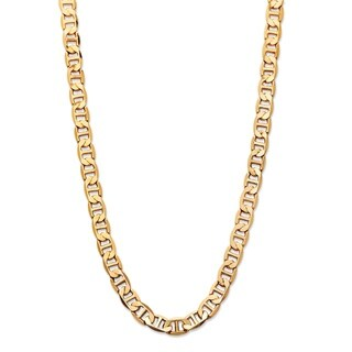 Men's Mariner-Link 7 mm Classic Chain Necklace Gold Ion-Plated 22""""