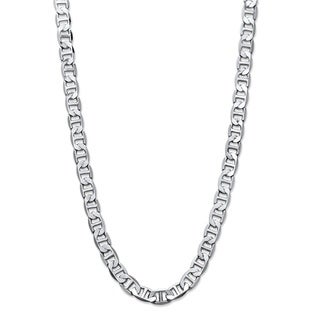 Men's Silvertone Mariner-Link 7 mm Classic Chain Necklace