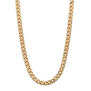PalmBeach Men's Classic 5.5 mm Curb-Link Gold Ion-Plated Chain Necklace 22""""