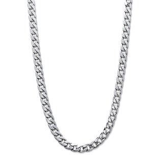 Men's Curb-Link 5.5 mm Classic Chain Necklace in Silvertone 22""""