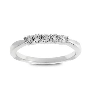 Azaro 14k White Gold 1/4ct TDW Round Diamond Wedding Band (G-H, SI1-SI2)