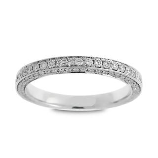 Azaro Jewelry 14k White Gold 7/8ct TDW Round Diamond 3-row Eternity Wedding Band (G-H, SI1-SI2)