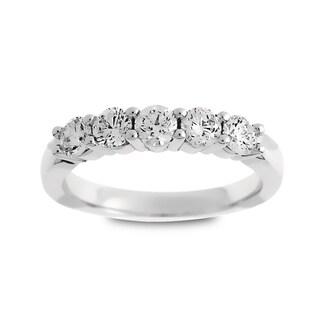 Azaro Jewelry 14k White Gold 3/4ct TDW Round Diamond Wedding Band