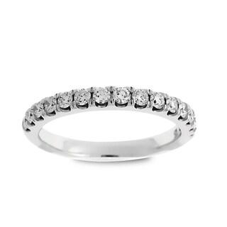 Azaro 14k White Gold 1/2ct TDW Round Diamond Halfway Wedding Band (G-H, SI1-SI2)