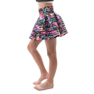 Soho Kids Girls High Waist Zip-up Back Pleated Skirt for Summer/ Autumn