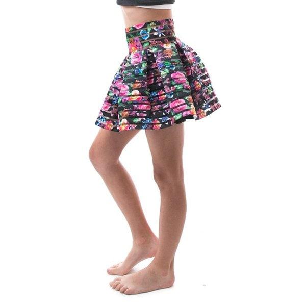 Soho Kids Girls High Waist Zip-up Back Pleated Skirt for ...