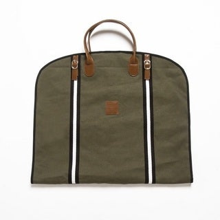 Original Canvas and Vegan Leather Garment Bag