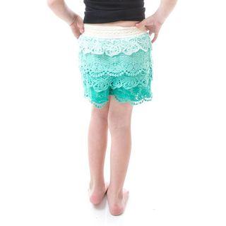 Soho Kids Girls Mint Tier Crochet Shorts for Summer/ Autumn