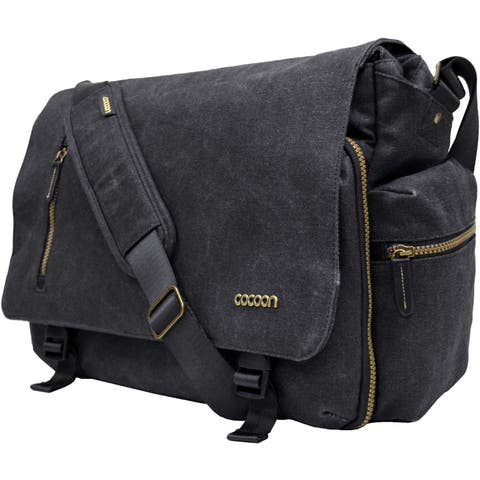 """Cocoon Urban Adventure Carrying Case (Messenger) for 16"""" Notebook - Black"""